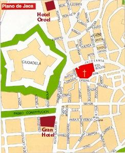 Mapa De Jaca Huesca.Huesca Jaca