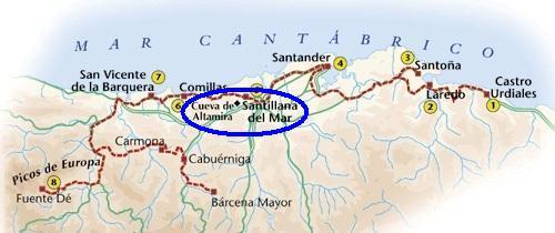 Santillana Del Mar Mapa.Cantabria Santillana Del Mar