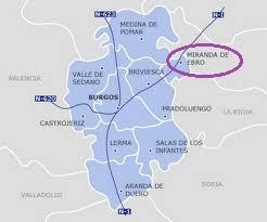 Mapa Miranda De Ebro.Burgos Miranda De Ebro