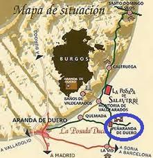 Peñaranda De Duero Mapa.Burgos Penaranda De Duero