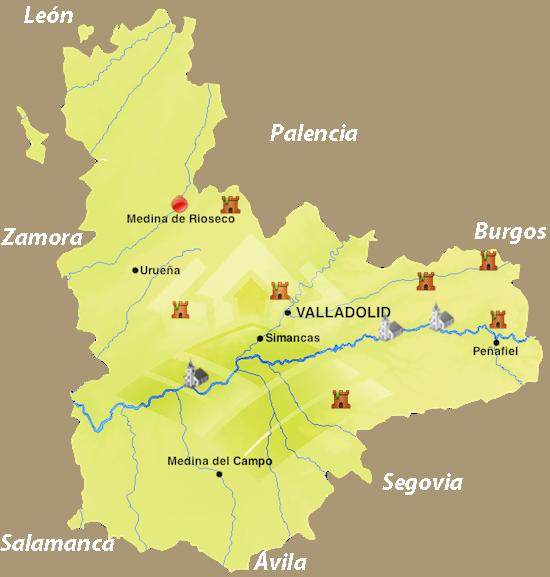 Medina Del Campo Mapa.Valladolid Medina De Rioseco