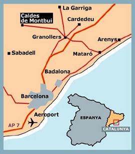 Caldes De Montbui Mapa.Barcelona Caldes De Montbui