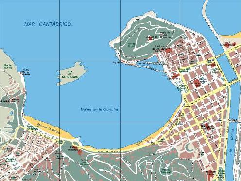 Mapa San Sebastian Provincia.Guipuzcoa San Sebastian