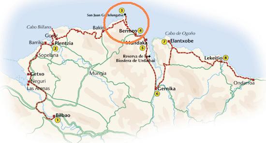 Mapa De Vizcaya Costa.Vizcaya Bermeo