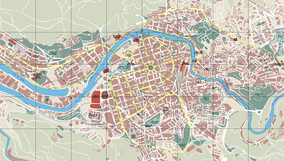 Mapa De Burgos Ciudad.Vizcaya Bilbao
